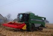 Usługa zbioru kukurydzy na ziarno, koszenie, zbiór