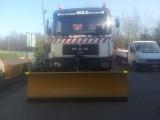 Pług do śniegu do ciężarówni i ciągnika