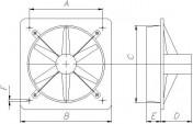 Wentylator ścienny jednofazowy W1F50