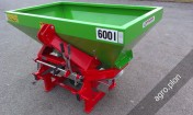 Rozsiewacz nawozów dwutalerzowy TYTAN 600 l 800 litrów Transport