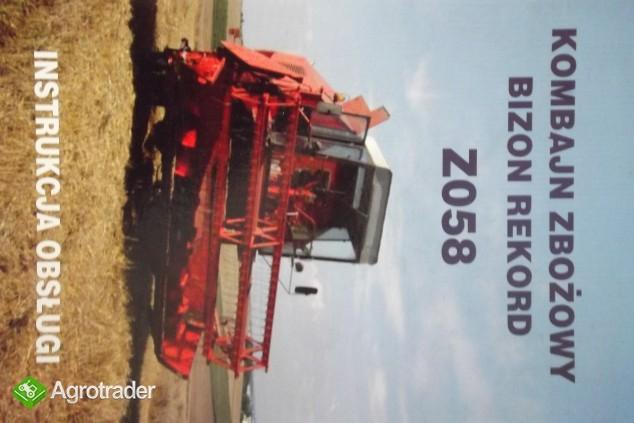 Katalog części do kombajnu zbożowego,instrukcji obsługi napraw BIZON - zdjęcie 1