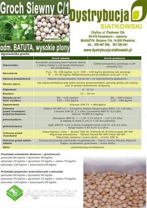 Kwalifikowane nasiona siewne grochu siewnego odm. BATUTA C/1 - zdjęcie 3