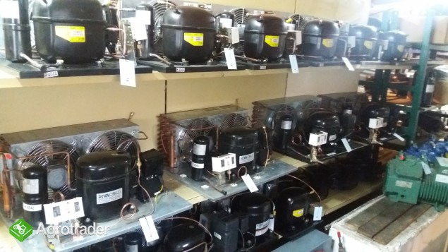 Agregat chłodniczy skraplacz sprężarka chłodnicza parownik zestaw  - zdjęcie 3