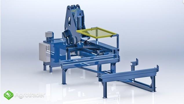 Urządzenie maszyna do łamania szyn kolejowych - złom szyny