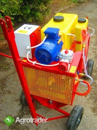 OPRYSKIWACZ ELEKTRYCZNY WÓZKOWY 80L, SILNIK 3 kW, 14-22l/min - zdjęcie 2