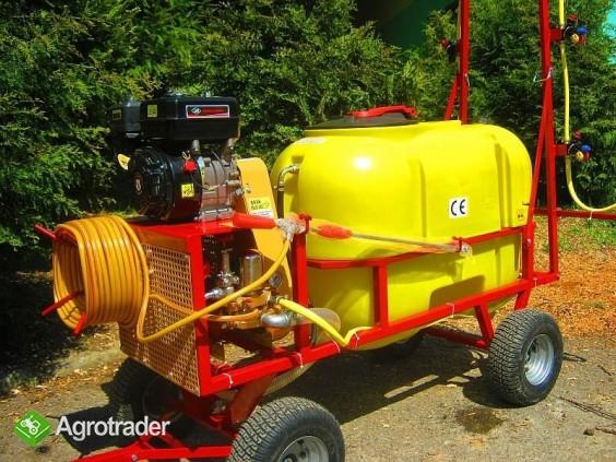 Opryskiwacz wózkowy spalinowy + zamgławiacz, 200l, 6,5 kM, 14-22l/min - zdjęcie 2