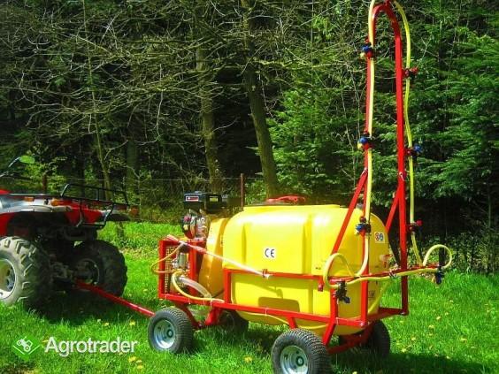 Opryskiwacz wózkowy spalinowy + zamgławiacz, 200l, 6,5 kM, 14-22l/min - zdjęcie 3