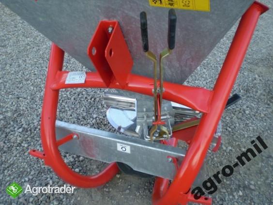 Rozsiewacz rozsiewacze jednotarczowy nawozu lej ocynkowany - zdjęcie 2