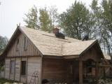Wiór osikowy Gont Drewniany Dach kryty wiórem