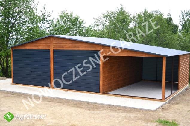 GARAŻE BLASZANE imitacja drewna Nowość Garaż blaszany dowolny wymiar  - zdjęcie 2