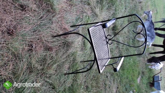 Krzeslo metalowe, ogrodowe, ozdobne. - zdjęcie 1