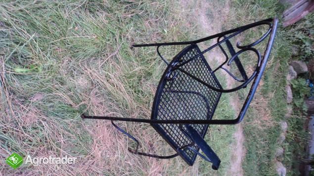 Krzeslo metalowe, ogrodowe, ozdobne. - zdjęcie 2