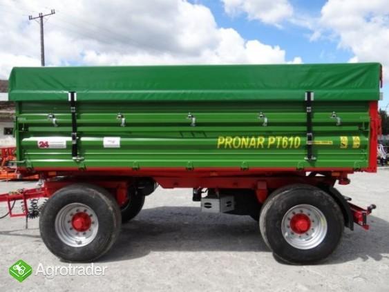 Przyczepa rolnicza 8 t paletowa PRONAR PT608 od ręki wyprzedaż - zdjęcie 4
