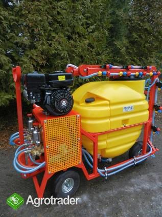 Opryskiwacz spalinowy wózkowy. Zbiornik 200l , silnik 6,5 kM - zdjęcie 3