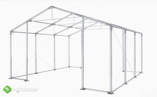 Hala namiotowa całoroczna 5×6 × 2,5m/3,41m wiata garaż solidny - zdjęcie 1