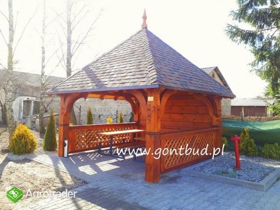 altanka+ściany+gonty ( wiaty drewniane garaż altana ) gontbud.pl - zdjęcie 2
