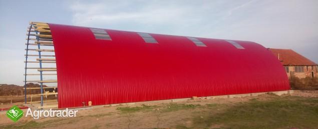 HALA ŁUKOWA tunel rolniczy ciągnik wiata 10,8 x25 - zdjęcie 6