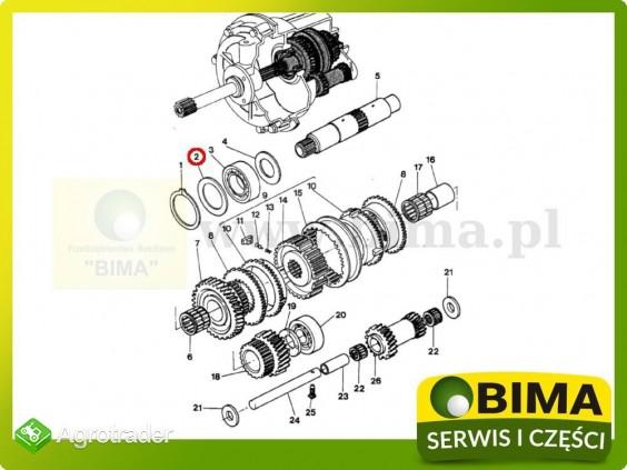 Podkładka regulacyjna 0,5mm rewersu Massey Ferguson 3125 - zdjęcie 1