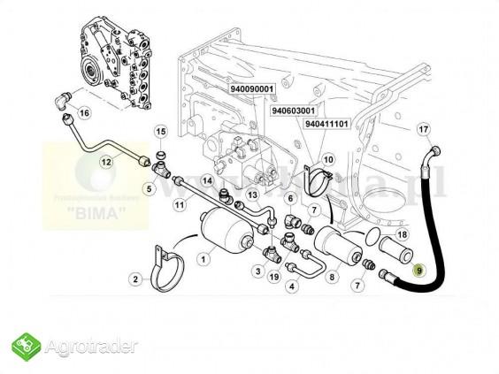 Filtr hydrauliczny Massey Ferguson 6497  6499,6499 8210 - zdjęcie 2