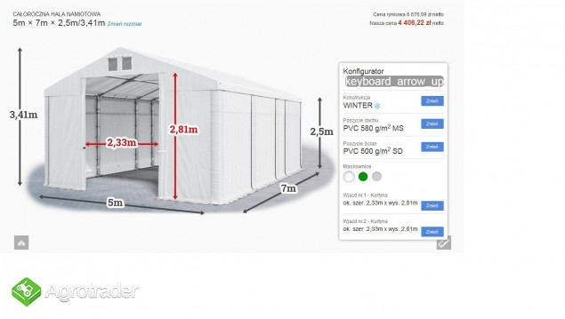 Mocny namiot magazynowy MTB Warsztat Garaż 5x7x2,5 - zdjęcie 5